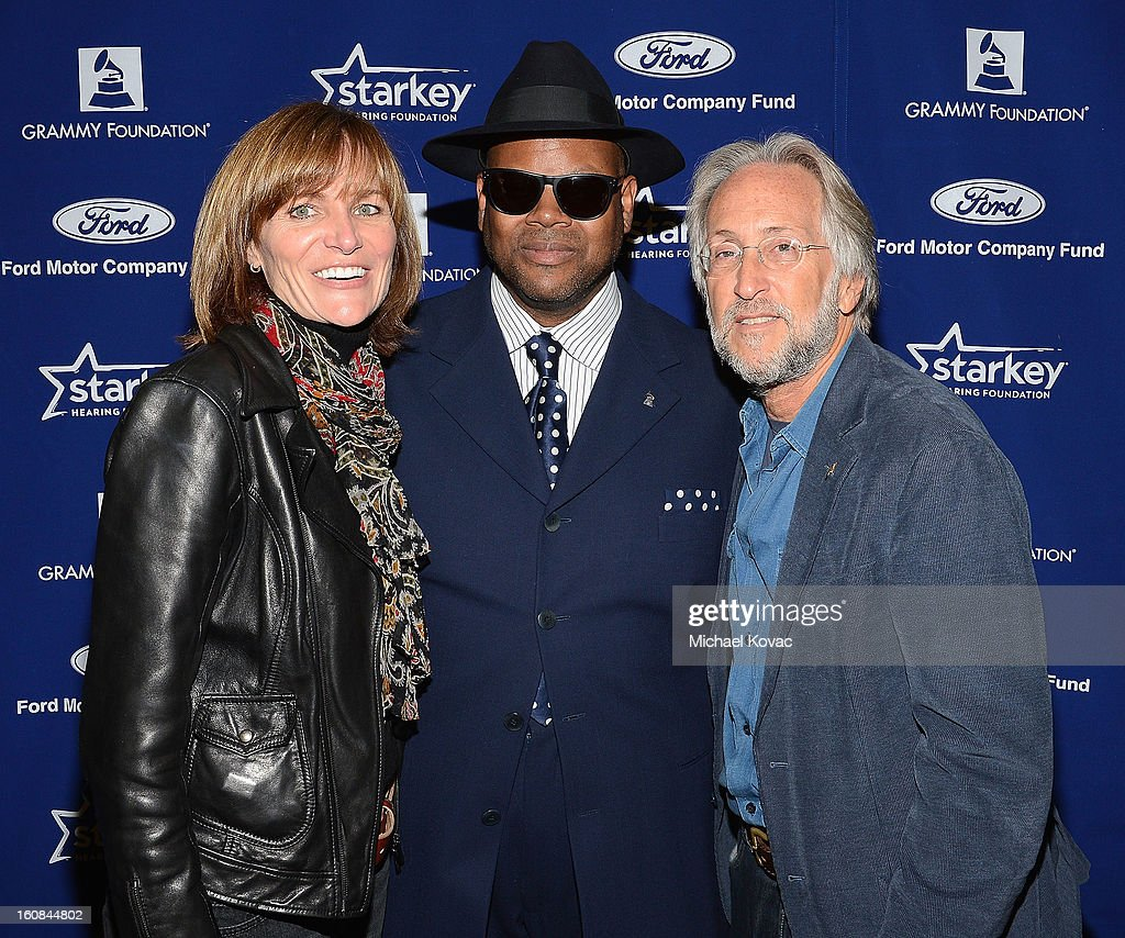 Foundation SVP Kristen Madsen, producer Jimmy Jam, and President/CEO of The Recording Academy Neil Portnow attend GRAMMY Camp Basic Training on February 6, 2013 in Los Angeles, California.