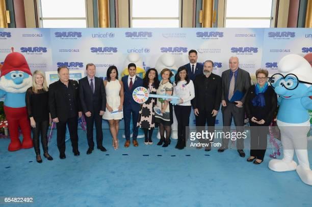 UN Foundation SVP Susan Myers Belgian Ambassador to the UN Marc Pecsteen de Buytswerve Demi Lovato Karan Jerath Noor Samee UnderSecretaryGeneral for...