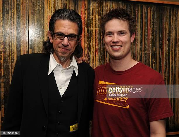 Foundation vp Scott Goldman and musician Jonny Lang at The GRAMMY Museum on June 1 2010 in Los Angeles California