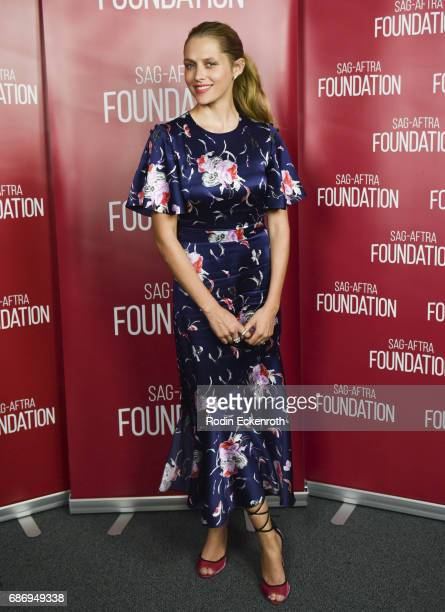 Foundation's conversations with Teresa Palmer of 'Berlin Syndrome' at SAGAFTRA Foundation screening room on May 22 2017 in Los Angeles California