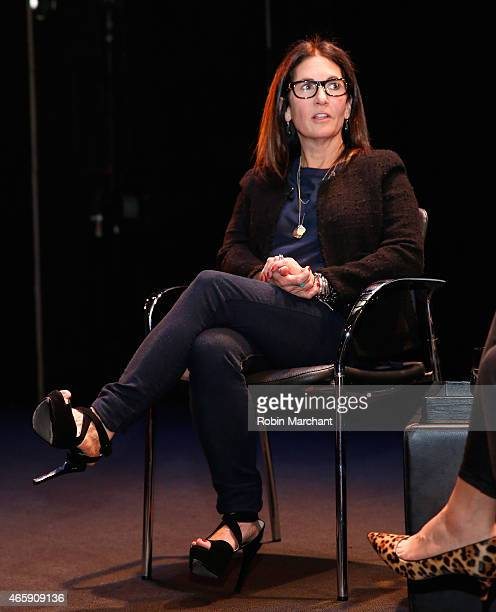 Founder and CCO of Bobbi Brown Cosmetics Bobbi Brown attends FIAF's Creative Leader Series Bobbi Brown at Florence Gould Hall on March 11 2015 in New...