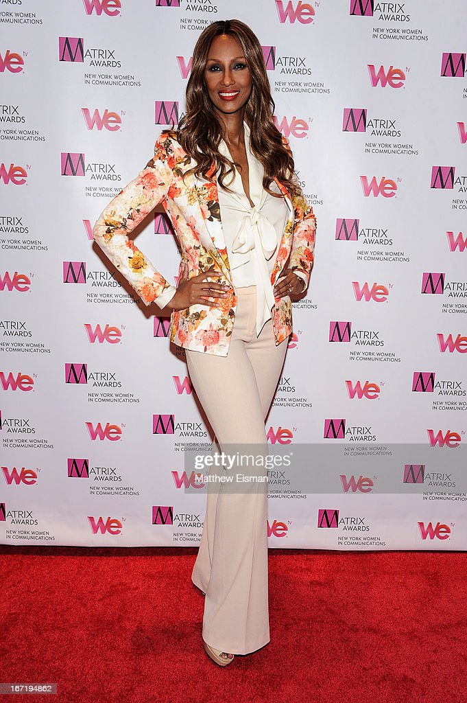 Founder and CEO, IMAN Cosmetics Iman attends the New York Women In Communications 2013 Matrix Awards at The Waldorf Astoria on April 22, 2013 in New York City.