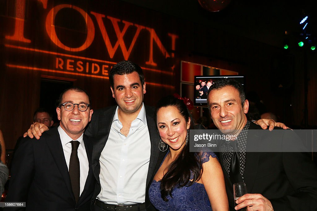 Founder and CEO Joe Sitt, Thor Equities Bert Dweck, leasing director Itzy Garay, and Ty Havlioglu attend TOWN Residential's holiday party in celebration of its two year anniversary at the Dream Downtown on December 10, 2012 in New York City.