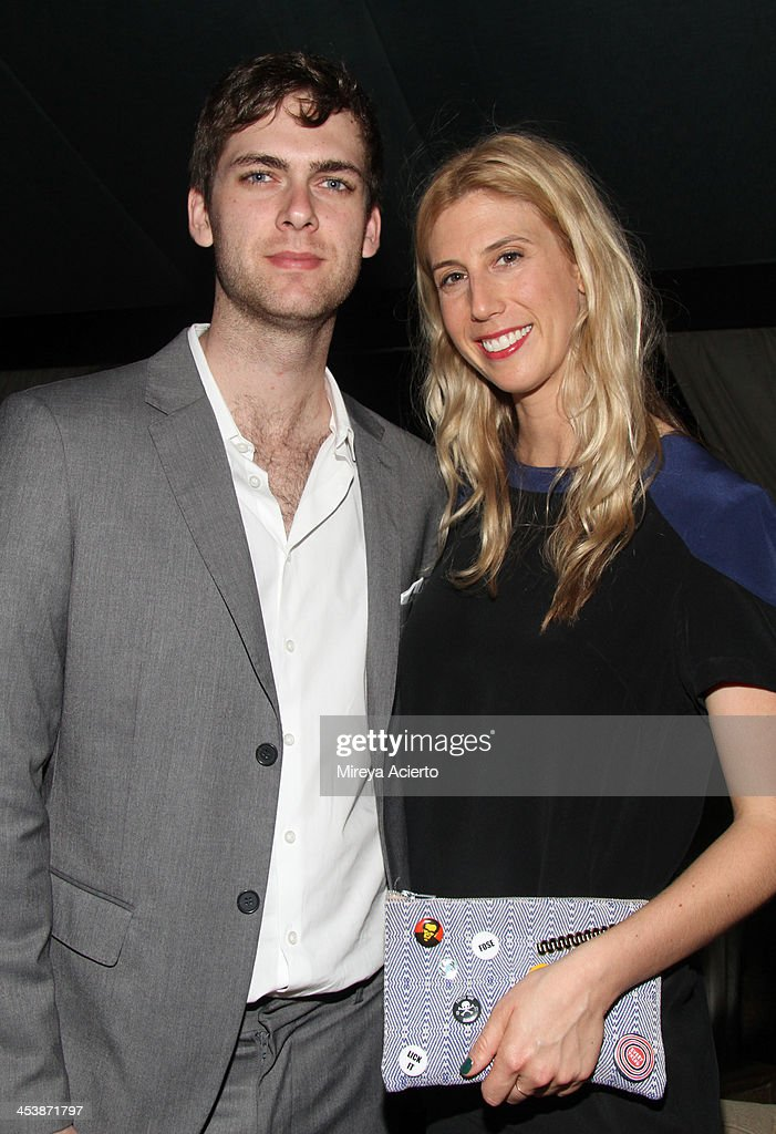 Founder and CEO of Arsty, Carter Cleveland and Alex Gilbert attend the Artsy celebration for CalArts' John Baldessari Studios, with Audi, Valentino, and Vhernier at Soho Beach House on December 5, 2013 in Miami Beach, Florida.
