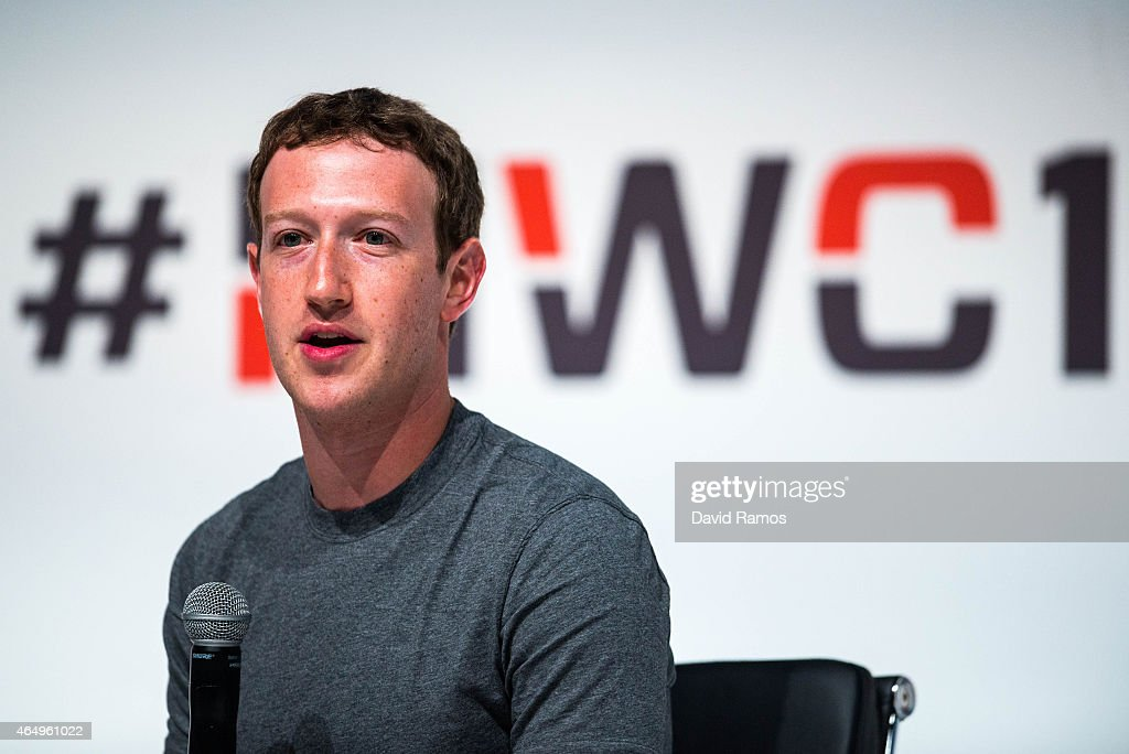 Founder and CEO of Facebook <a gi-track='captionPersonalityLinkClicked' href=/galleries/search?phrase=Mark+Zuckerberg&family=editorial&specificpeople=4841191 ng-click='$event.stopPropagation()'>Mark Zuckerberg</a> speaks during his keynote conference during the first day of the Mobile World Congress 2015 at the Fira Gran Via complex on March 2, 2015 in Barcelona, Spain. The annual Mobile World Congress hosts some of the wold's largest communication companies, with many unveiling their latest phones and wearables gadgets.