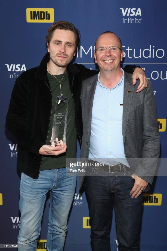 "Sverrir Gudnason  Receives The IMDb ""Breakout Star"" STARmeter Award In Toronto At The Visa Infinite Lounge"