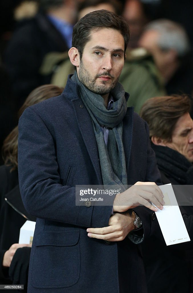 Founder and CEO of Instagram Kevin Systrom attends the French Cup match between Paris Saint-Germain FC (PSG) and AS Monaco FC at Parc des Princes stadium on March 4, 2015 in Paris, France.