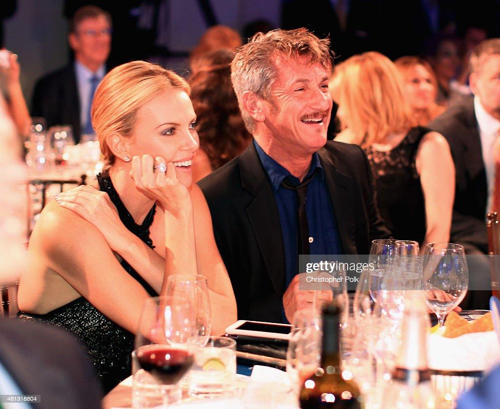 Founder and CEO of J/P Haitian Relief Organization Sean Penn and Charlize Theron attend the 4th Annual Sean Penn Friends HELP HAITI HOME Gala...