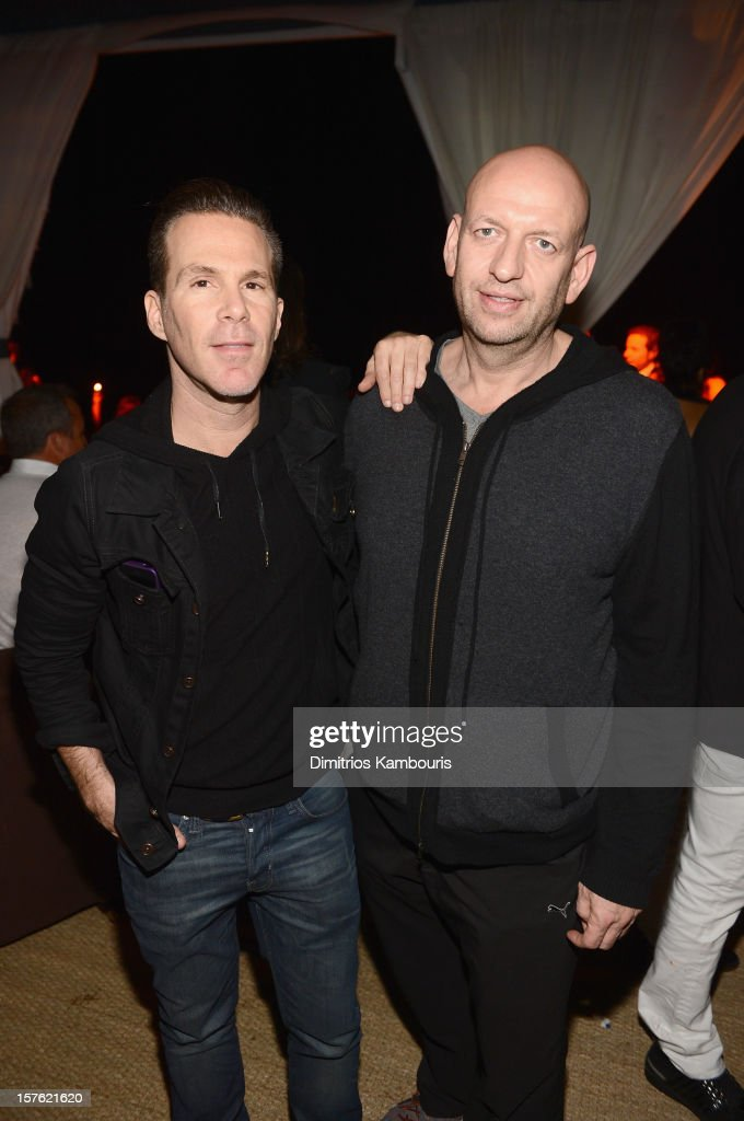 Founder and CEO of One Management Scott Lipps and guest attend the Art Basel Miami Kick Off Celebration hosted by Jay Jopling & Nick Jones at Soho Beach House on December 4, 2012 in Miami Beach, Florida.