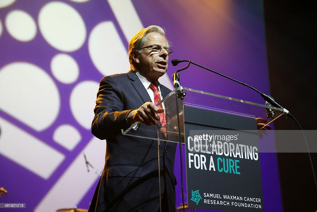 Founder and CEO of Samuel Waxman Cancer Research Foundation, Dr. Samuel Waxman speaks on stage during the 16th Annual Samuel Waxman Cancer Research Foundation Collaborating For A Cure Benefit Dinner & Auction at Park Avenue Armory on November 21, 2013 in New York City.