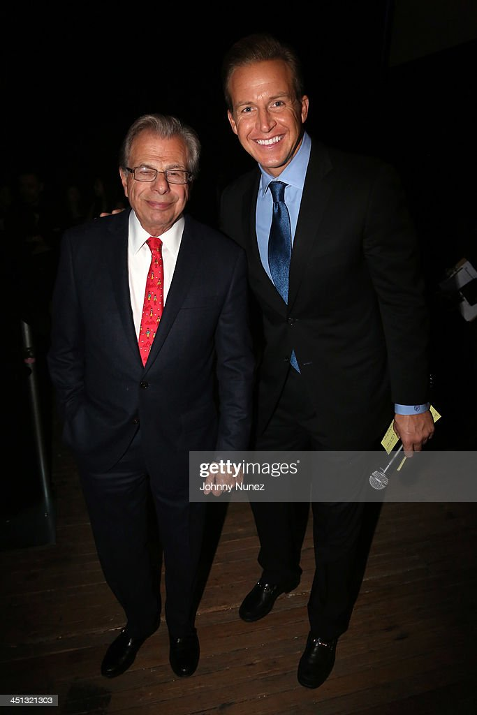 Founder and CEO of Samuel Waxman Cancer Research Foundation Dr. Samuel Waxman and news anchor <a gi-track='captionPersonalityLinkClicked' href=/galleries/search?phrase=Chris+Wragge&family=editorial&specificpeople=4345147 ng-click='$event.stopPropagation()'>Chris Wragge</a> attend the 16th Annual Samuel Waxman Cancer Research Foundation Collaborating For A Cure Benefit Dinner & Auction at Park Avenue Armory on November 21, 2013 in New York City.