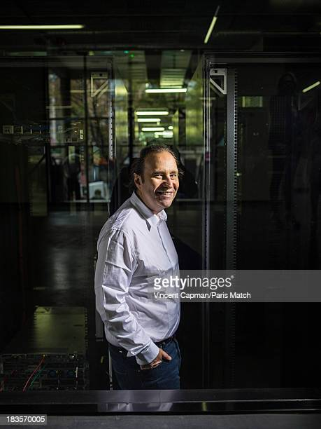 Founder and CEO of telecoms company Iliad Free Group Xavier Niel is photographed for Paris Match at the Ecole 42 a newly created school for new...
