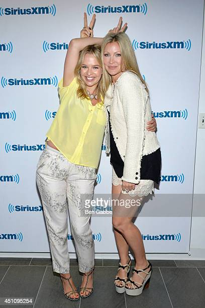 Founder and CEO of the Ignite Group Marissa Hermer and Caprice Bourret visit at SiriusXM Studios on June 23 2014 in New York City