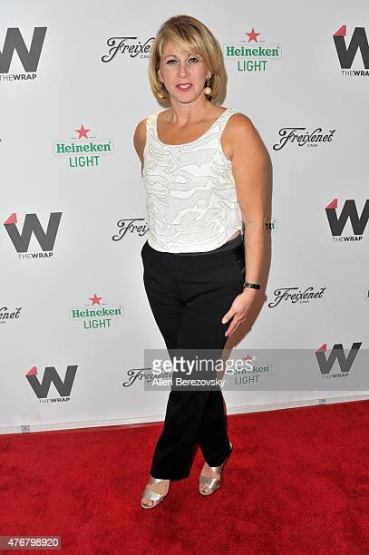 Founder and CEO of The Wrap Sharon Waxman arrives at TheWrap's 2nd Annual Emmy Party at The London Hotel on June 11 2015 in West Hollywood California