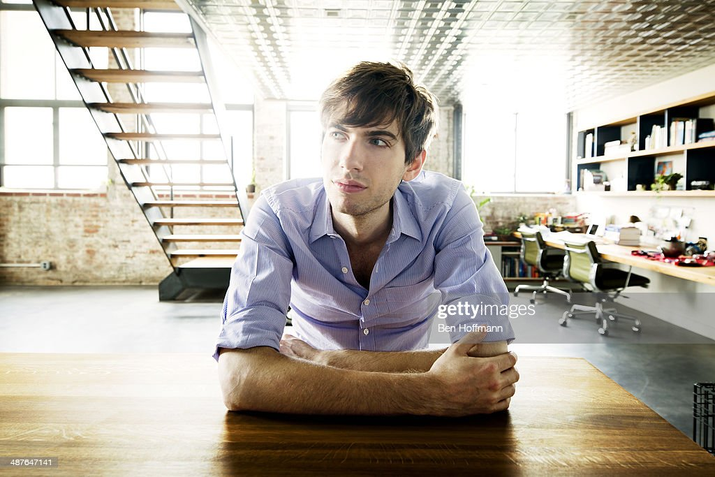 Founder and CEO of Tumblr, <a gi-track='captionPersonalityLinkClicked' href=/galleries/search?phrase=David+Karp&family=editorial&specificpeople=6603515 ng-click='$event.stopPropagation()'>David Karp</a> is photographed for T Magazine on June 26, 2013 at home in Brooklyn, New York. Photographed at the kitchen island in his loft, designed by John Gachot. PUBLISHED IMAGE. ON EMBARGO UNTIL MAY 15, 2014.