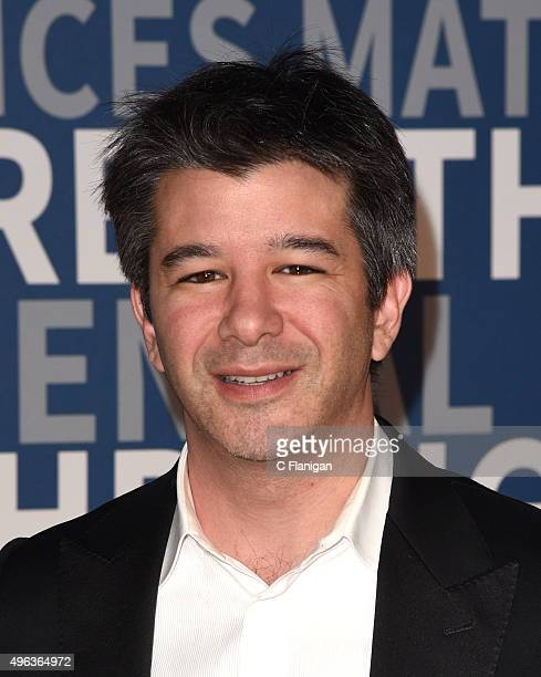 Founder and CEO of Uber Travis Kalanick arrives at the 3rd Annual Breakthrough Prize Award Ceremony at NASA Ames Research Center on November 8 2015...