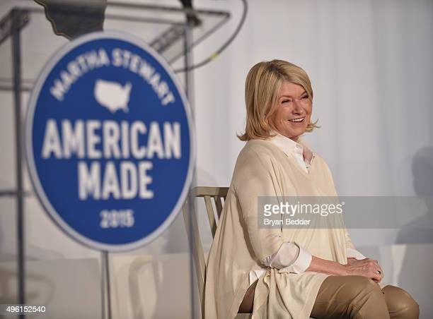 Founder and Chief Creative Officer MSLO Martha Stewart speaks on stage during Martha Stewart American Made Summit at Martha Stewart Living Omnimedia...