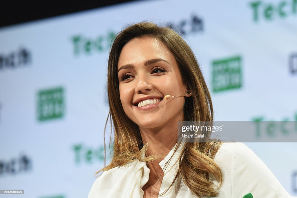 Founder and COO of The Honest Company Jessica Alba speaks onstage during TechCrunch Disrupt NY 2016 at Brooklyn Cruise Terminal on May 11 2016 in New...