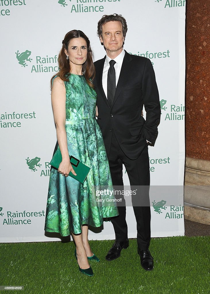 Founder and Creative Director, Eco-Age Ltd, Livia Firth and actor Colin Firth attend the 2014 Rainforest Alliance Gala at American Museum of Natural History on May 7, 2014 in New York City.