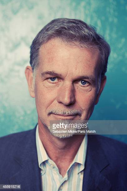 Founder and director of NetFlix Reed Hastings is photographed for Paris Match on September 11 2014 in Los Gatos California
