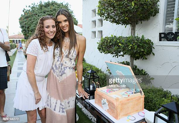 Founder and Editor in Chief POPSUGAR Lisa Sugar and Alessandra Ambrosio attend Alessandra Ambrosio Launches Ale by Alessandra For BaubleBar Jewelry...