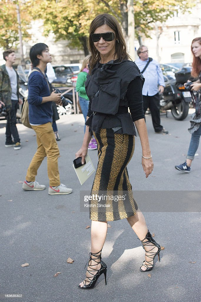Founder and editor-in-chief of CR Fashion Book Carine Roitfeld on day 9 of Paris Fashion Week Spring/Summer 2014, Paris October 02, 2013 in Paris, France.