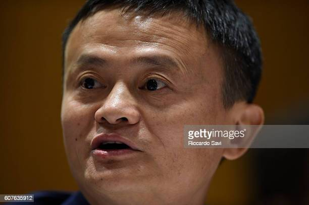 Founder and Executive Chairman Alibaba Group Jack Ma speaks on September 18 2016 in New York City