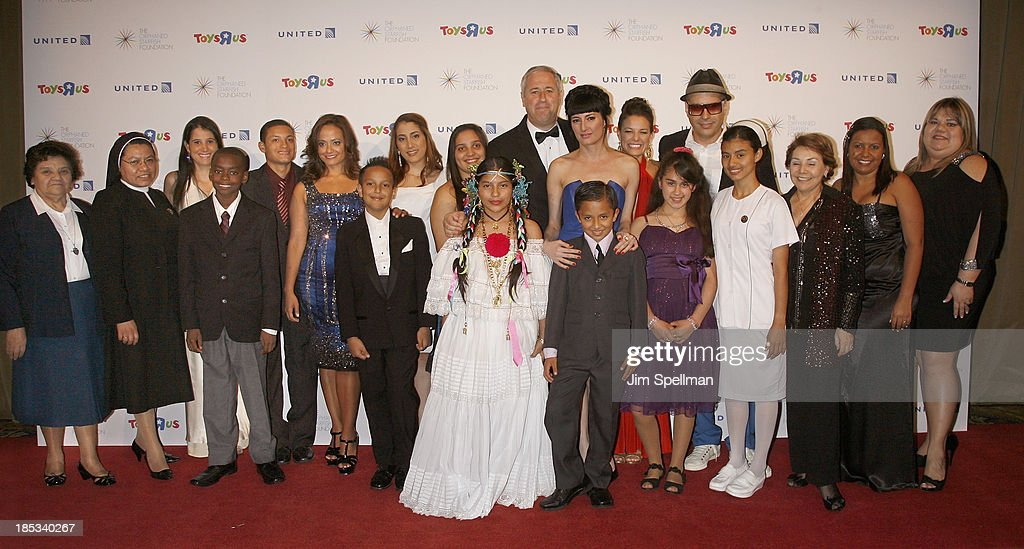 Founder and Executive Chairman of Orphaned Starfish Foundation Andrew B Stein, singer Cucu Diamantes, Dilia Jelen, record producer Andres Levin and guests attend the 2013 Orphaned Starfish Foundation gala at Cipriani Wall Street on October 18, 2013 in New York City.