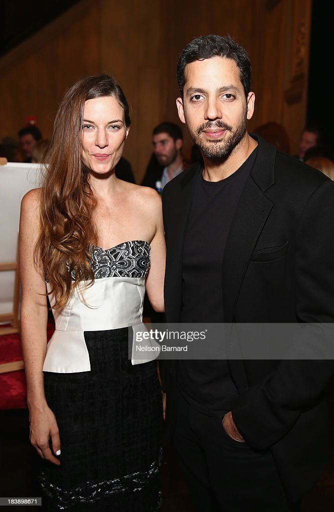 Founder and Executive Director of The Lunchbox Fund Topaz Page-Green and magician <a gi-track='captionPersonalityLinkClicked' href=/galleries/search?phrase=David+Blaine&family=editorial&specificpeople=165238 ng-click='$event.stopPropagation()'>David Blaine</a> attend The Lunchbox Fund Fall Fête at Buddakan, New York on October 9, 2013 in New York City.