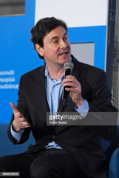 Founder and Executive Director RefugePoint Sasha Chanoff during the Galvanizing the World Session at the Aurora Dialogues a series of discussions...