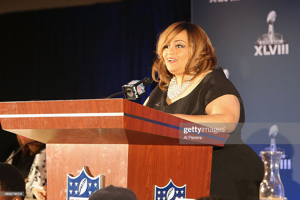 Founder and Executive Producer of the Super Bowl Gospel Celebration Melanie Few-Harrison attends the Super Bowl Gospel Celebration Concert Press Conference at Super Bowl XLVIII Media Center, Sheraton Times Square on January 30, 2014 in New York City.