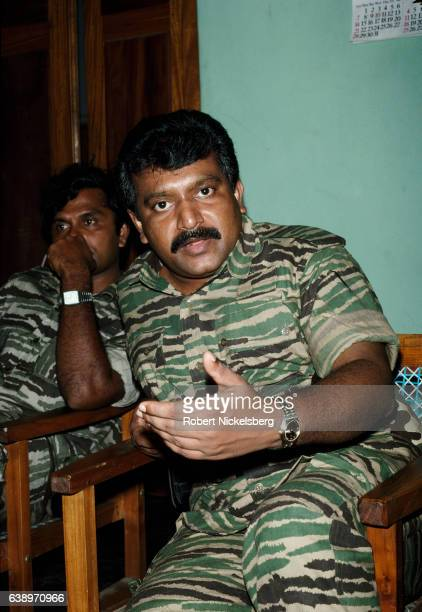 Founder and leader of the Liberation Tigers of Tamil Eelam Velupillai Prabhakaran speaks with Time magazine reporter Anita Pratap on March 27 1990 in...