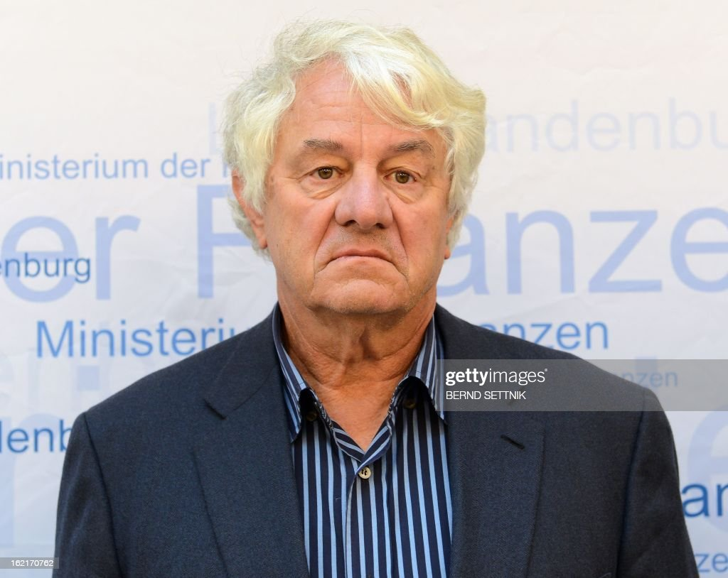 SAP founder and patron Hasso Plattner the opening ceremony of the new parliament building in Potsdam, eastern Germany, on February 19, 2013. The Giving Pledge announced on February 19, 2013 that Plattner has joint the initiative by Warren Buffet an Bill Gates to donate a majority of their wealth for philanthropy and charity.