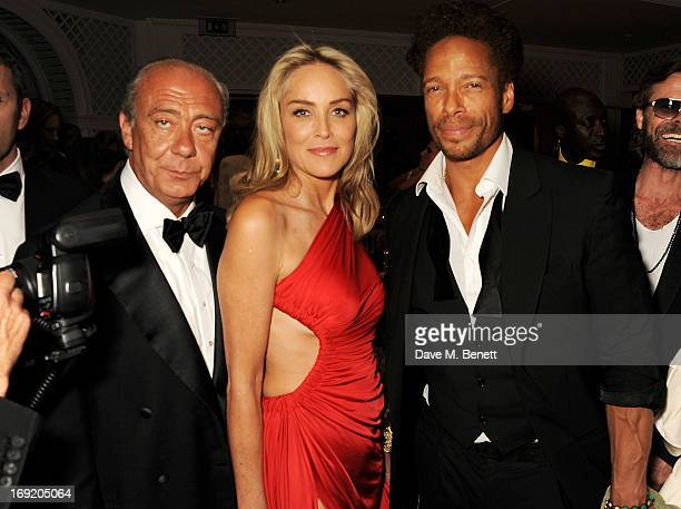 Founder and President of de Grisogono Fawaz Gruosi actors Sharon Stone and Gary Dourdan attend a cocktail reception at the de Grisogono Party during...