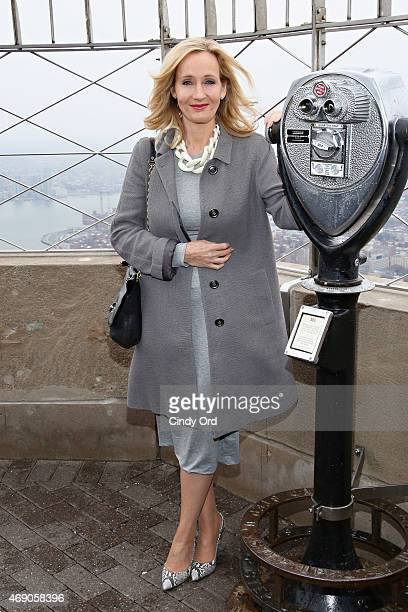Founder and President of Lumos and Patron of Lumos USA/ Author JK Rowling ceremoniously lights the Empire State Building in LumosÕ colors of purple...