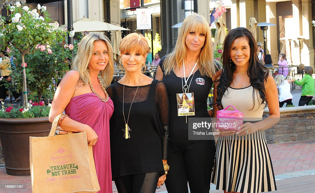 CEO & Founder at Beauty Society Jeannie Lorin, Fashion Show Director Beverly Zeiss, Erin Eckert and Renita Kilgore attend Santana Row Fall Fashion Show 2013 on September 14, 2013 in San Jose, California.