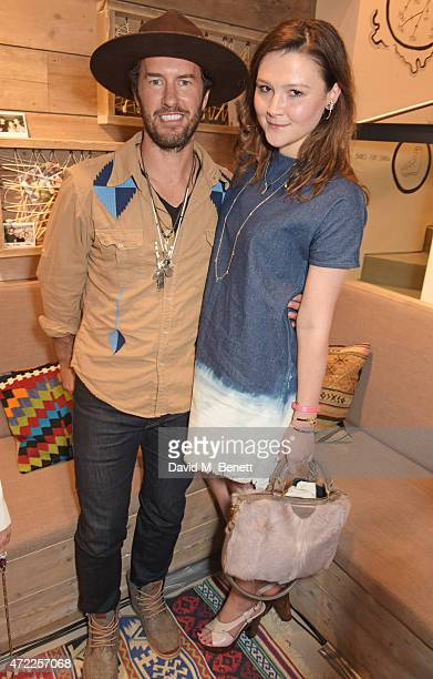 TOMS founder Blake Mycoskie and Amber Atherton attend the launch of TOMS London Community Outpost their first UK Flagship store off Carnaby Street on...