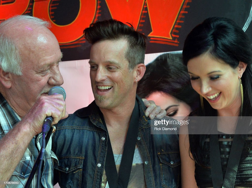 Founder Broken Bow Records Benny Brown Keifer Thompson and Shawna Thompson at the Thompson Square Party For 'If I Didn't Have You' at The Row on June...