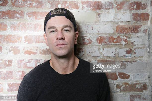 Founder / CEO Josh Reed poses backstage before the 'Gents' presentation at Industria Studios on February 11 2015 in New York City
