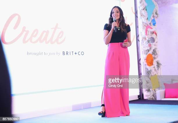 Founder CEO of Brit Co Brit Morin attends Brit Co Kicks Off Experiential PopUp #CreateGood with Allison Williams and Daphne Oz at Brit Co on October...