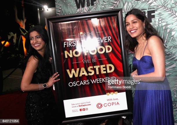 Founder CEO of Copia Komal Ahmed and actor Freida Pinto attend the tenth annual Women in Film PreOscar Cocktail Party presented by Max Mara and BMW...