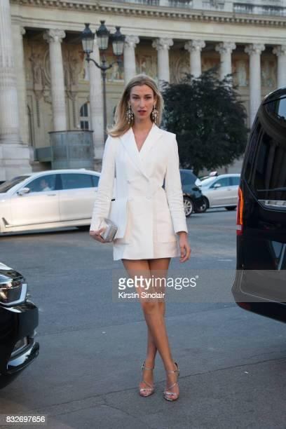 Founder CEO wwwvensettecom Lauren Remington Platt day 2 of Paris Haute Couture Fashion Week Autumn/Winter 2017 on July 3 2017 in Paris France