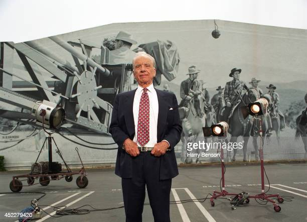 Founder chairman and CEO of News Corporation Rupert Murdoch poses for a portrait on the 20th Century lot in 1999 in Century City California