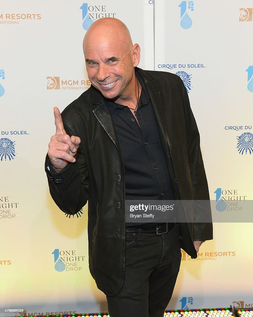 Founder Cirque du Soleil and Founder and Chairman of the Board of One Drop Guy Laliberte arrives at the 2nd annual 'One Night for One Drop' at Aureole Las Vegas at the Mandalay Bay Resort and Casino on March 21, 2014 in Las Vegas, Nevada.