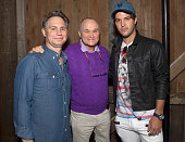 Founder DuJour Media Jason Binn Ray Kelly and Andrew Warren attend DuJour's Jason Binn Hamptons brunch presented by EAST Miami on August 23 2015 in...