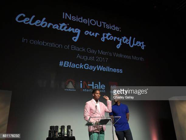 Founder iNHale Entertainment Nathan Hale Williams and AIDS Healthcare Foundation's Christopher G Johnson attend AIDS Healthcare Foundation iNHale...