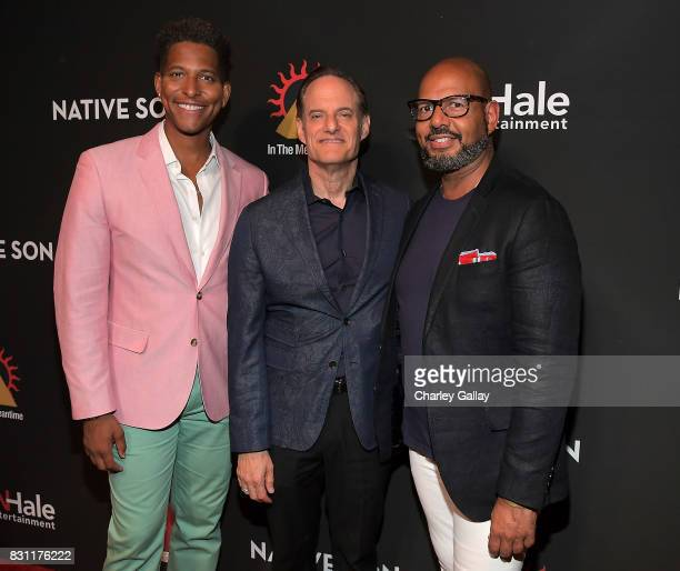 Founder iNHale Entertainment Nathan Hale Williams President AIDS Healthcare Foundation Michael Weinstein and Founder Native Son Emil Wilbekin attend...