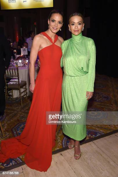 DKMS founder Katharina Harf and recording artist Rita Ora attend 11th Annual DKMS 'BIG LOVE' Gala on April 27 2017 in New York City
