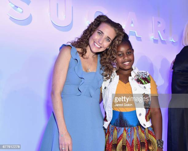 POPSUGAR founder Lisa Sugar and Khloe Thompson attend POPSUGAR 2017 Digital NewFront at Industria Studios on May 3 2017 in New York City