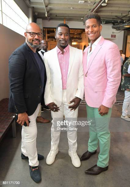 Founder Native Son Emil Wilbekin actor Daniel Beaty and Founder iNHale Entertainment Nathan Hale Williams attend Native Son Hosts Its First Los...